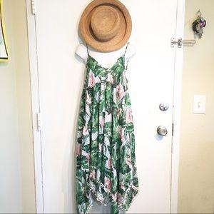 NWT Goa Beachwear By Japna Tropical Floral Dress